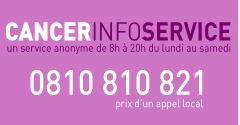 Cancer Info Service. 0810 810 821